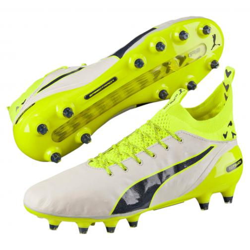 Puma Chaussures De Football Evotouch Pro Special Edt. Fg birch-peacoat-safety yellow Tifoshop