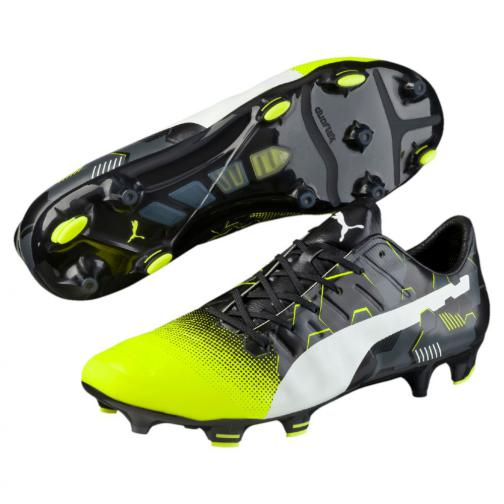 Puma Football Shoes Evopower 1.3 Graphic Fg safety yellow-white-black Tifoshop
