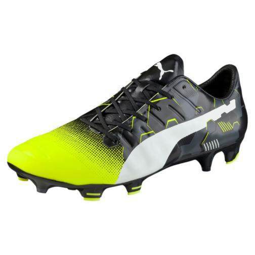 Puma Football Shoes Evopower 1.3 Graphic Fg safety yellow-white-black