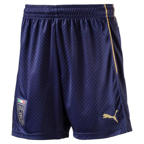 Puma Game Shorts Away Italy Junior  16/17 peacoat-victory gold