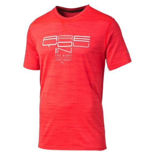 Puma T-shirt Nightcat S/s Tee Red Blast Heather