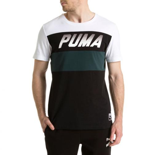 Puma T-shirt Speed Font Tee Puma White Tifoshop