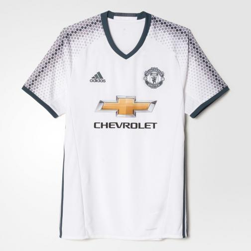 Adidas Shirt Drittel Manchester United   16/17 white/bold onix