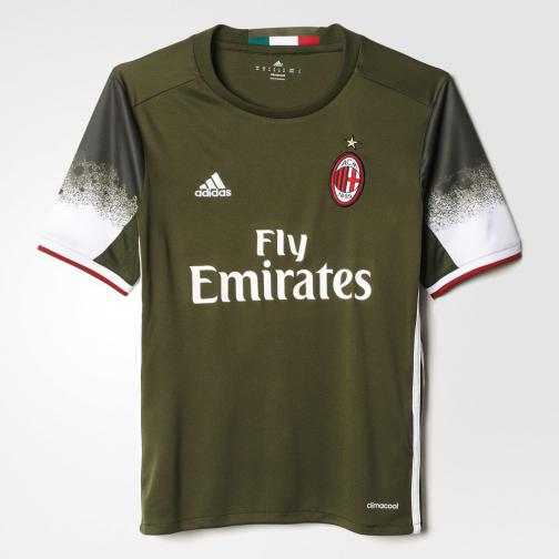 Adidas Shirt Drittel Milan Juniormode  16/17 night cargo f15/white