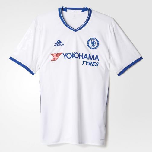 Adidas Shirt Drittel Chelsea   16/17 white/chelsea blue