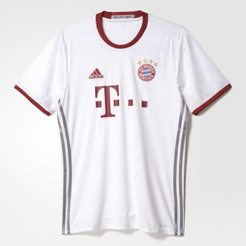 Adidas Shirt Champions League Bayern Monaco   16/17 white/light onix/collegiate burgundy