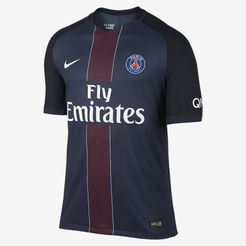 Nike Maglia Gara Authentic Home Paris Saint Germain   16/17 Blu