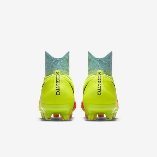 Nike Football Shoes Magista Obra Ii Fg  Junior VOLT/BLACK-TOTAL ORANGE-PINK BLAST Tifoshop