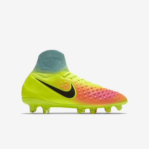 Nike Football Shoes Magista Obra Ii Fg  Junior VOLT/BLACK-TOTAL ORANGE-PINK BLAST