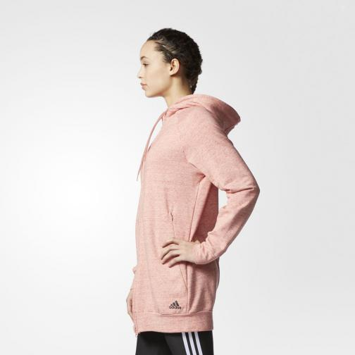 Adidas Sweat Cotton Fleece Fullzip Hoody  Femmes pepper raw pink mel Tifoshop