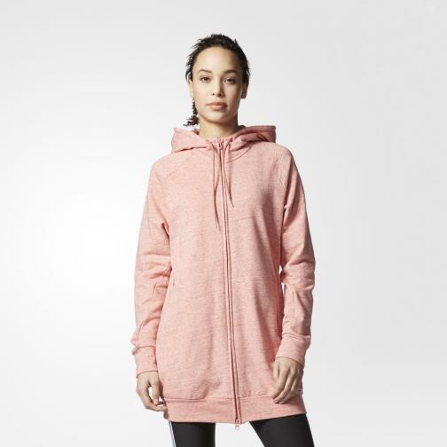 Adidas Sweat Cotton Fleece Fullzip Hoody  Femmes pepper raw pink mel