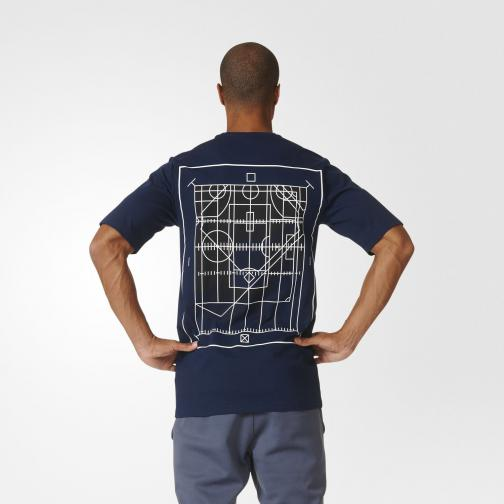 Adidas T-shirt Graphic Tee City Photo 2 Blu