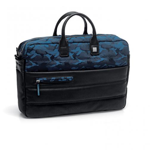 Laptop Briefcase  CAMOUFLAGE BLUE