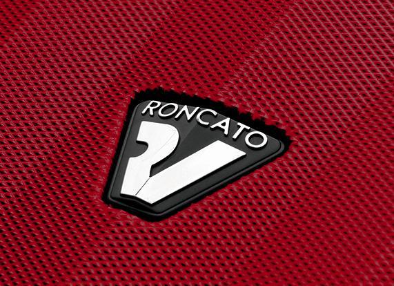 Large Luggage L  BLACK/RUBY Roncato