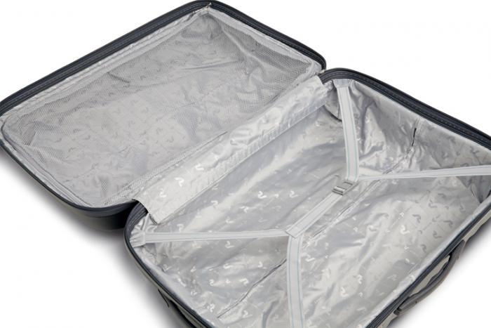 Mittelgrosse Koffer  BLACK/RUBY Roncato