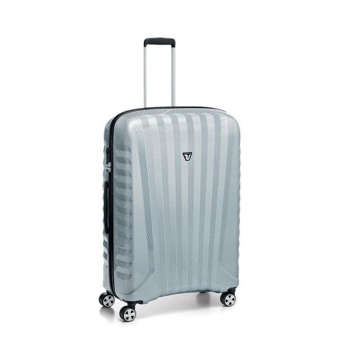 MEDIUM LUGGAGE  SILVER/CARBON