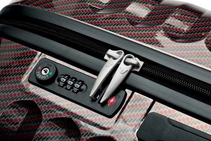 Mittelgrosse Koffer  BORDEAUX/CARBON Roncato