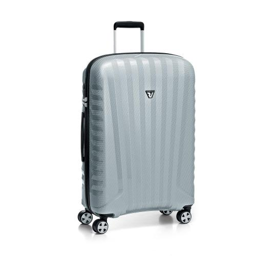 LARGE LUGGAGE  SILVER/CARBON