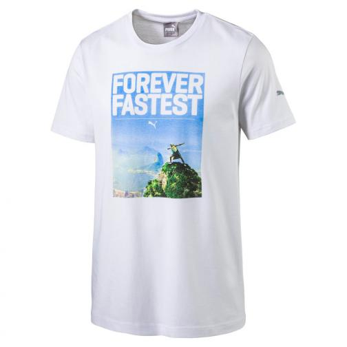Puma T-shirt Legendary Man Tee   Usain Bolt White