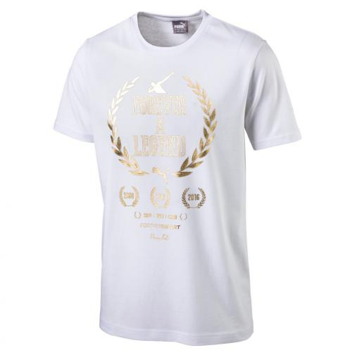 Puma T-shirt Greatest Hits Man Tee   Usain Bolt White