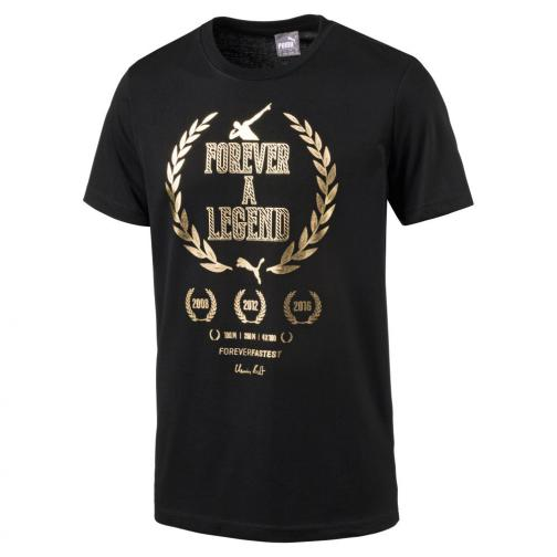 Puma T-shirt Greatest Hits Man Tee   Usain Bolt Black