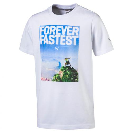 Puma T-shirt Legendary Tee  Enfant Usain Bolt White