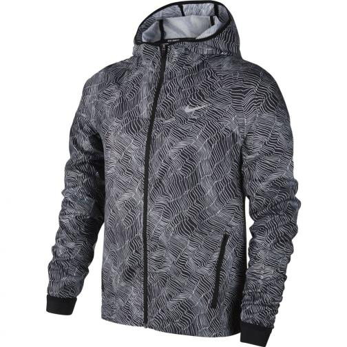 Nike Jacket Shield Running  Woman BLACK/WHITE