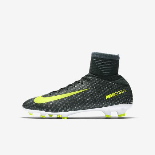 Nike Football Shoes Mercurial Superfly V Cr7 Fg  Junior Cristiano Ronaldo SEAWEED/VOLT-HASTA-WHITE