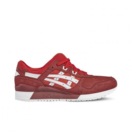 Asics Tiger Shoes Gel-lyte Iii  Unisex TRUE RED/WHITE