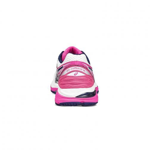 Asics Chaussures Gel-cumulus 18  Femmes WHITE/INDIGO BLUE/HOT PINK Tifoshop