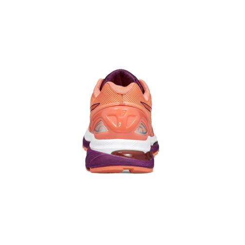 Asics Schuhe Gel-nimbus 19  Damenmode FLASH CORAL/DARK PURPLE/WHITE Tifoshop