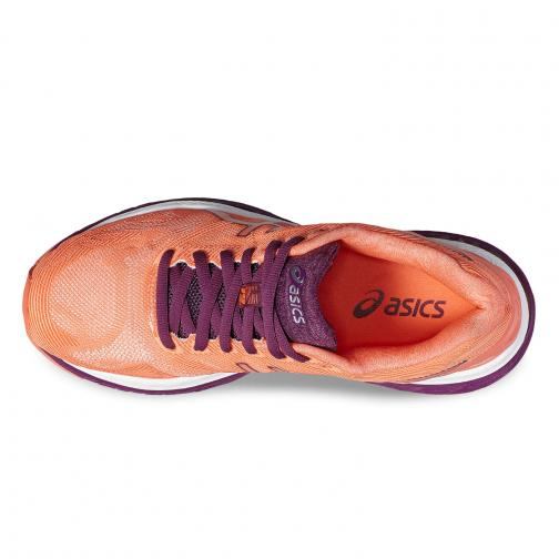 Asics Shoes Gel-nimbus 19  Woman FLASH CORAL/DARK PURPLE/WHITE Tifoshop