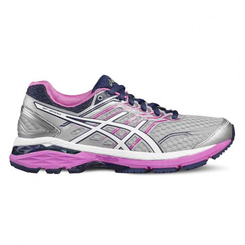 Asics Shoes Gt-2000 5  Woman MIDGREY/WHITE/PINK GLOW