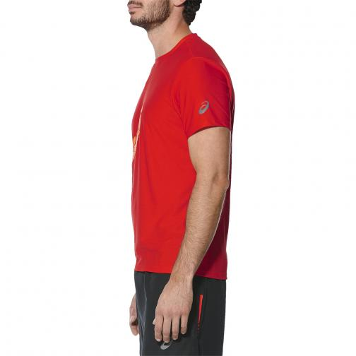 Asics T-shirt Graphic Ss Top FIERY RED Tifoshop