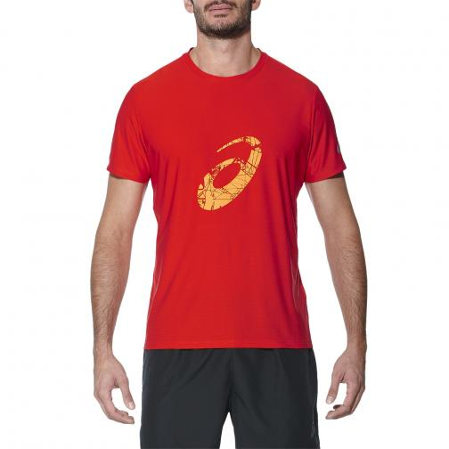 Asics T-shirt Graphic Ss Top FIERY RED