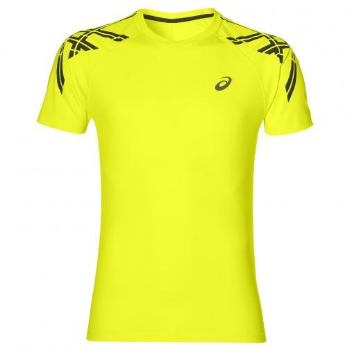 Asics T-shirt Asics Stripe Ss Top Giallo Tifoshop