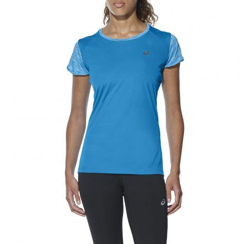 Asics T-shirt Fuzex Ss Top  Woman DIVA BLUE