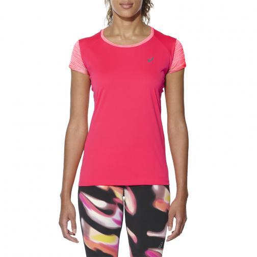 Asics T-shirt Fuzex Ss Top  Donna Rosa