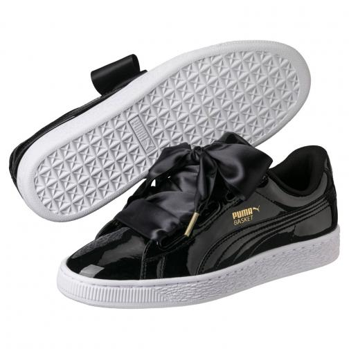 Puma Shoes Basket Heart Patent Wn's  Woman Black Tifoshop