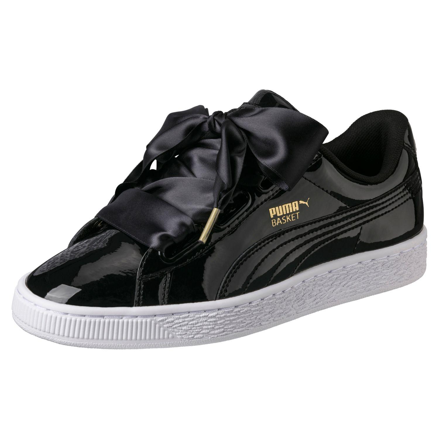 PUMA BASKET HEART PATENT WN'S SNEAKERS DONNA NERO