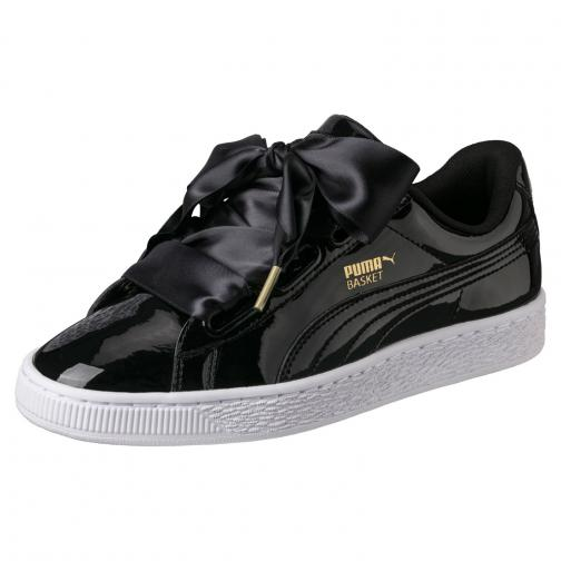 Puma Shoes Basket Heart Patent Wn's  Woman Black