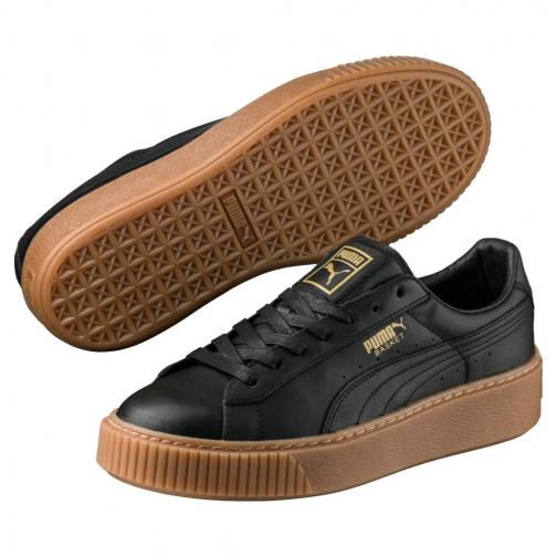 Puma Shoes Basket Platform Core  Woman Black Tifoshop