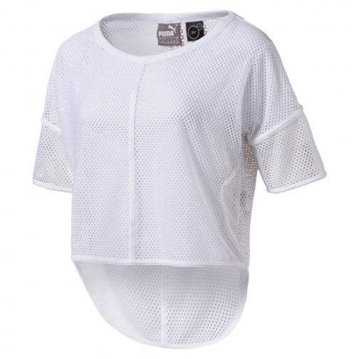 Puma T-shirt Explosive Mesh  Donna Bianco