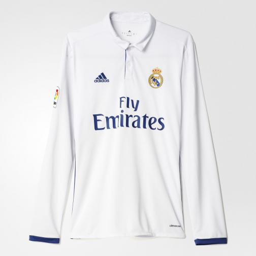 Adidas Maillot De Match Home Real Madrid   16/17 Crystal White/Raw Purple
