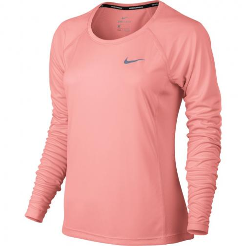 Nike Sweater Dry Miler  Woman BRIGHT MELON/BRIGHT MELON