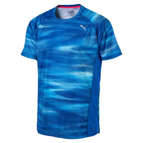 Puma T-shirt Graphic S/s TRUE BLUE Heather