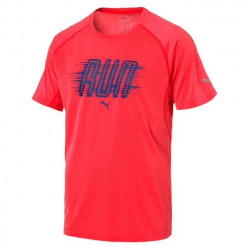 Puma T-shirt Run S/s Bright Plasma Heather