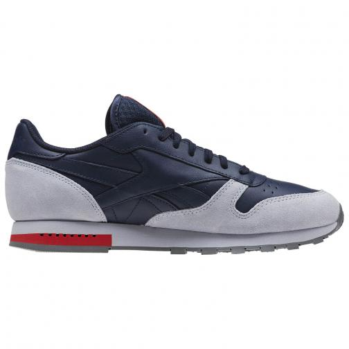 Reebok Chaussures Cl Leather NAVY GREY Tifoshop