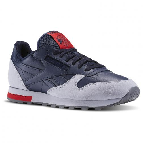 Reebok Scarpe Cl Leather BLU