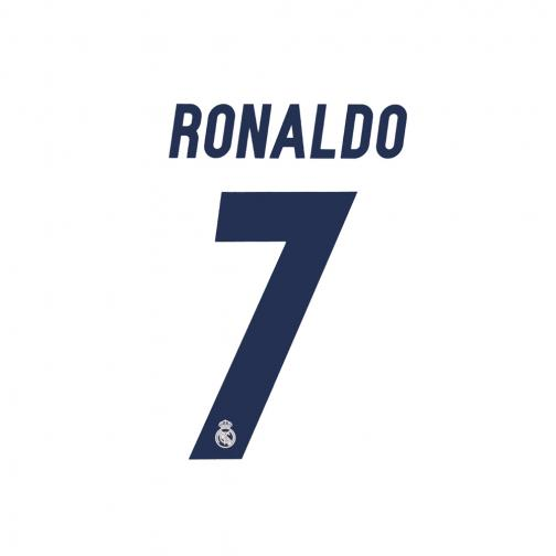 Sporting Id Inscription Et Numéro Officiel  Real Madrid Enfant  16/17 Dark Blue